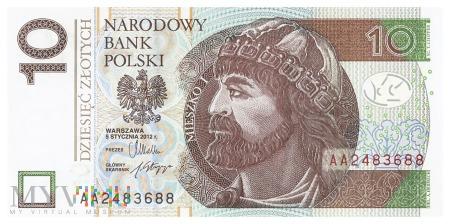 Polska - 10 złotych (2012)