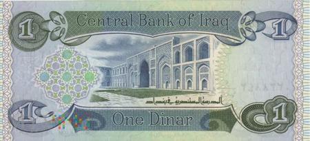 IRAK 1 DINAR 1992-93
