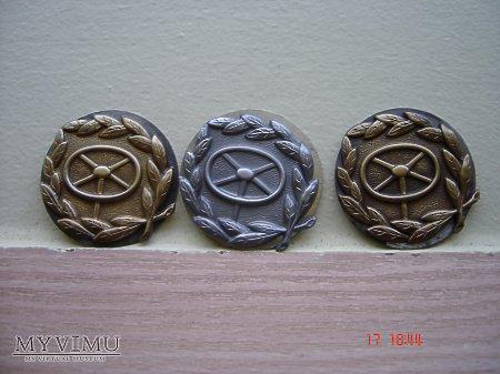Odznaka Kierowcy Złota,Srebrna i Brązowa