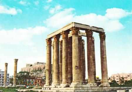 Duże zdjęcie ATHENS. The Temple of Olympian Jupiter