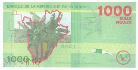 Burundi - 1 000 franków (2015)
