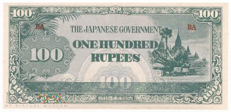 Birma - 100 rupii (1944)