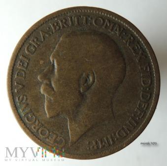 Moneta 1/2 Pensa 1917 Jerzy V Half Penny
