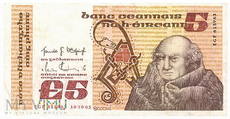 Irlandia - 5 funtów (1985)
