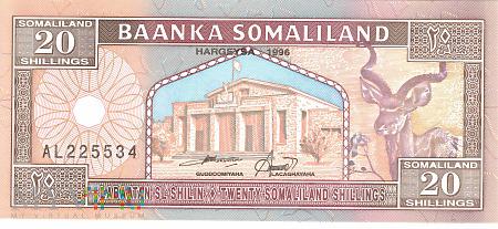 Somalia (Somaliland) - 20 szylingów (1996)