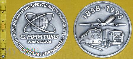 Medal kolejowy - przewozowy PSM C. Hartwig W-wa