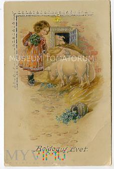 Świnka Noworoczna - pocz. XX wieku