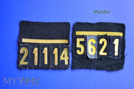 Oznaka stopnia MW - st.mar. z numerem okrętowym