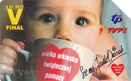 Karta telefoniczna - V Finał WOŚP 5.01.1997
