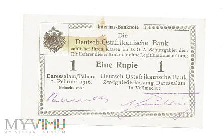 Niemiecka Afryka Wschodnia - 1 rupia, 1916r. UNC