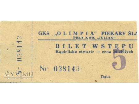 Bilet wstępu GKS Olimpia wz 2