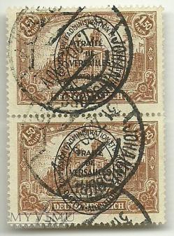 2 x 1,5 Mark - plebiscyt - Johannisburg - 1920 r.