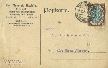 Carl Scheinig Nachflg Konigsberg 1920 r.
