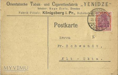 Orientalische Tabak Konigsberg 1922 r.