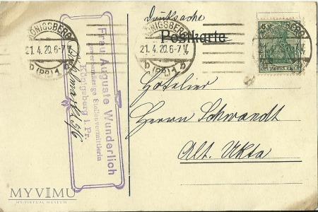 Auguste Wunderlich Konigsberg 1920 r.