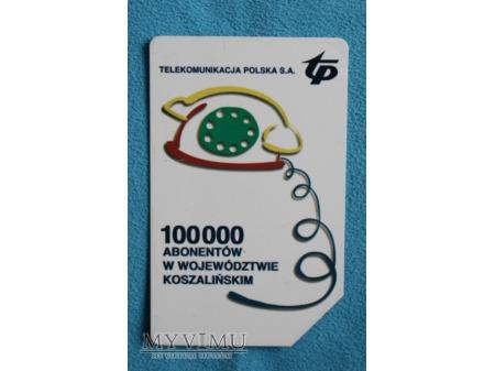 100 000 Abonentów w województwie koszalińskim