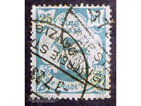 Znaczek 25 marek- poczta lotnicza