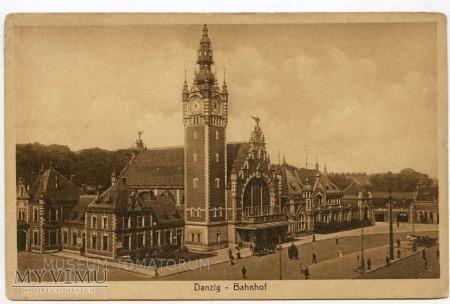 Gdańsk Danzig lata 20-te - Dworzec