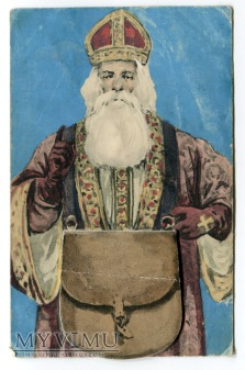 Mikołaj mechaniczna Novelty Santa Claus Postcard