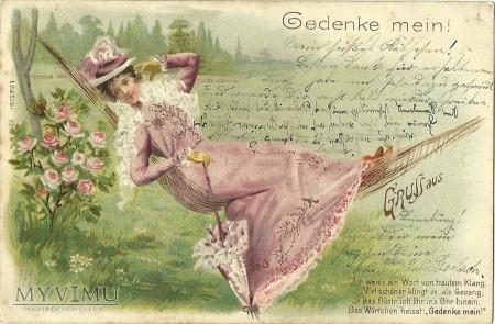 Kobieta z parasolką -1901 r.