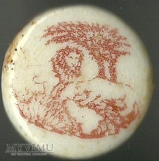 Porcelanka - lew i pantera
