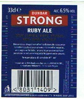 dunbar strong ruby ale