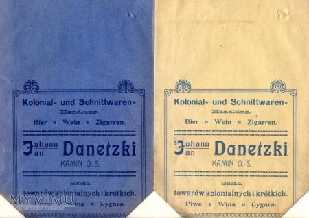 Danetzki - skład towarów kolonialnych w Kamieniu
