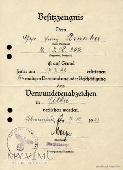 Nadanie do VWA w srebrze(Inf.Reg.399)