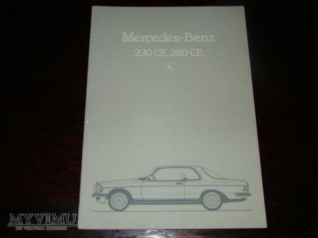 Prospekt MERCEDES 230CE, 280CE