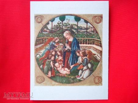 """Botticelli """"Madonna z Dzieciątkiem i aniołami"""""""