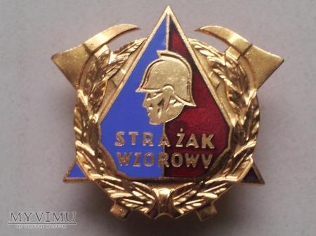 Odznaka Wzorowy Strażak - wersja współczesna