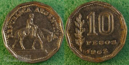 Argentyna, 10 pesos 1962