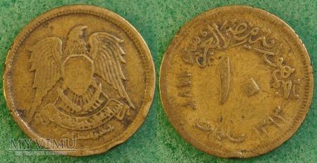 Egipt, 10 milliemes 1973