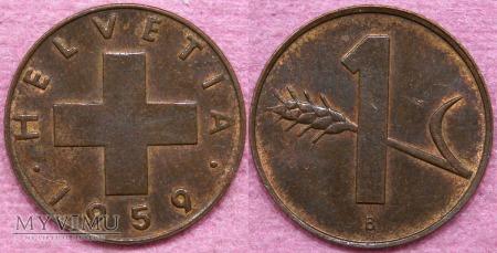 Szwajcaria, 1 Cent 1959