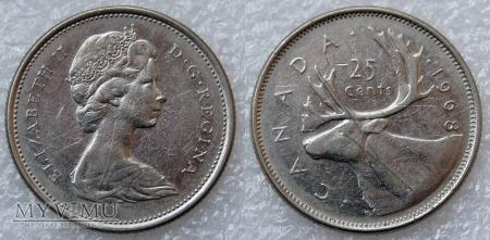 Kanada, 25 CENTS 1968