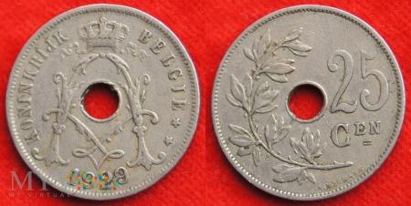 Belgia, 1929, 25 Centimes