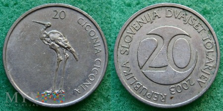 Słowenia, 20 TOLARJEV 2003