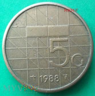 5 Guldenów Holandia 1988