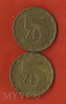 Polska 5 złotych,1984/1985