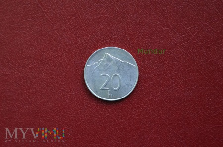 Moneta słowacka: 20 h