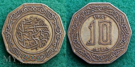 Algieria, 10 dinarów 1981