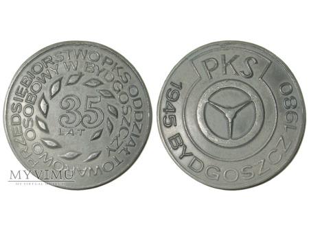 35 lat PKS Bydgoszcz medal ołowiany 1980
