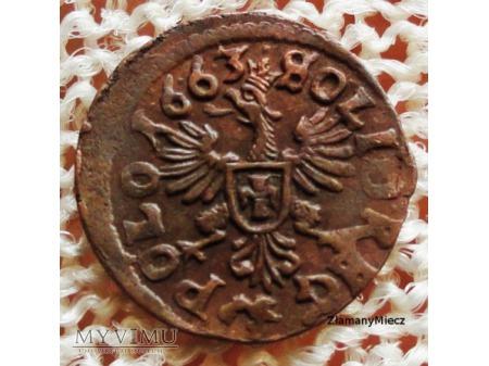 szeląg koronny 1663 16