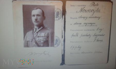Wojskowa legitymacja osobista Piotr Noworyta