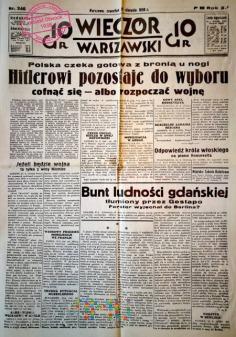Duże zdjęcie Wieczór Warszawski, 31.08.1939 rok