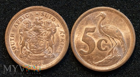 South Africa, 5 cents 1993