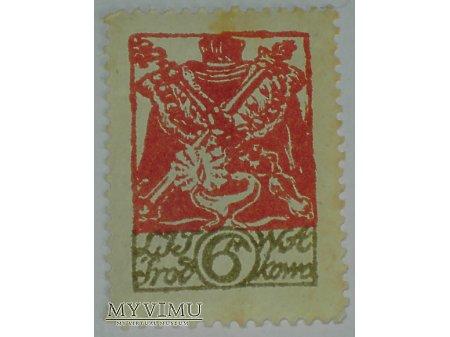 6 M znaczek z Litwy Środkowej