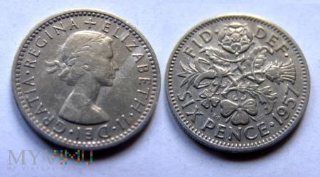 Wielka Brytania, SIX PENCE 1957