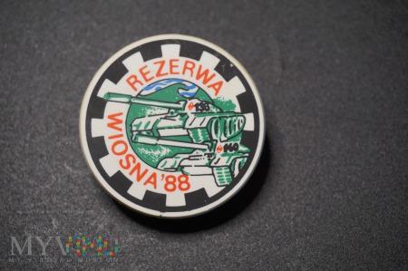 Pamiątkowa Odznaka Rezerwy - Wiosna 88