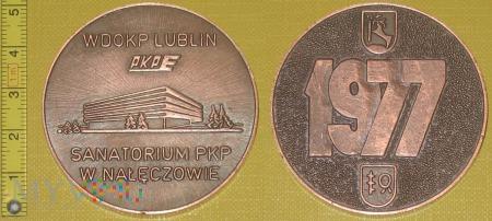 Duże zdjęcie Medal kolejowy - usługowy Sanatorium w Nałęczowie